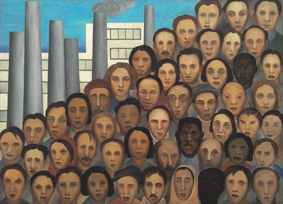 Tarsila do Amaral_Operários, 1933_Óleo sobre tela, 150 x 205 cm_Acervo Artístico-Cultural dos Palácios do Governo do Estado de São Paulo