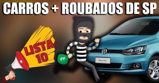 10 carros mais roubados na cidade de São Paulo