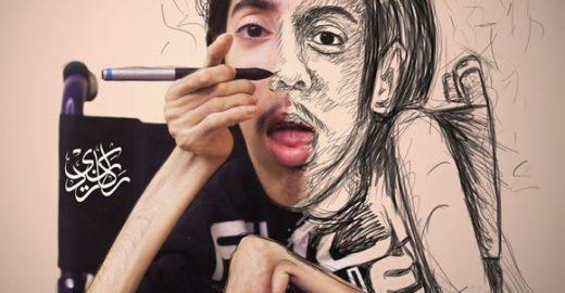 Artista prova que deficiência não é limite para criar pinturas