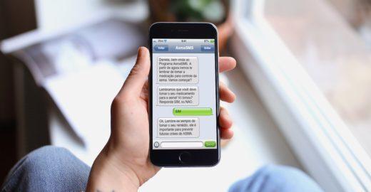 SMS gratuito ajuda no tratamento da asma