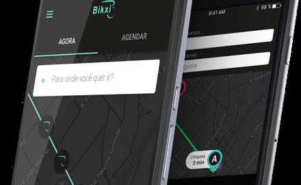App de transporte compartilhado usa bicicletas duplas e elétricas