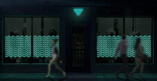 Bactérias iluminam fachadas de lojas e ruas na França