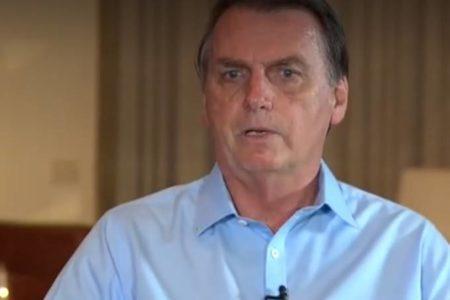 Jair Bolsonaro em entrevista para o 'Domingo Espetacular', da TV Record