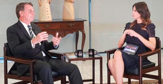 Bolsonaro para Luciana Gimenez: 'racismo é coisa rara no Brasil'