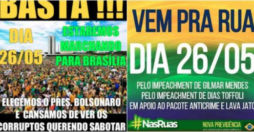 Bolsonaro chama militantes às ruas e pede impeachment de Toffoli
