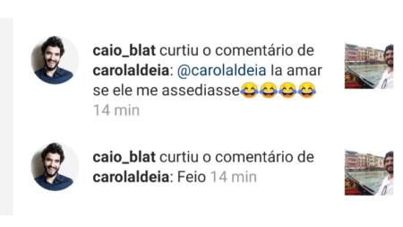 """Caio Blat curte comentário de seguidora: """"ia amar se me assediasse"""""""