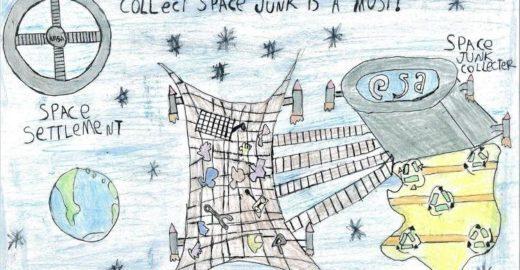 Brasileiro de 9 anos cria coletor de lixo espacial e ganha prêmio
