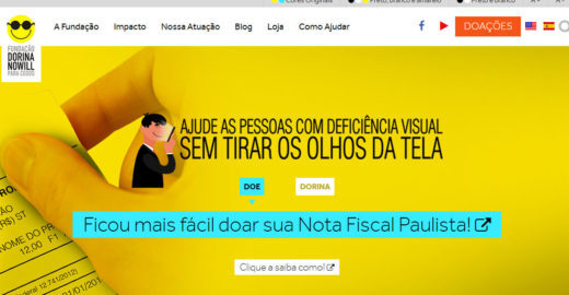 Fundação Dorina Nowill ganha selo de acessibilidade digital
