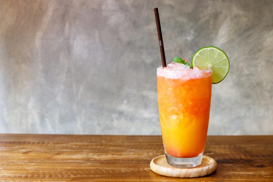 drink pêssego sem alcóol