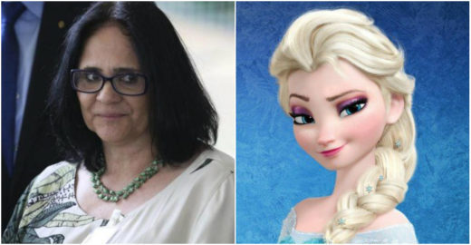 Elsa, de 'Frozen', convida Damares a conhecer seu palácio de gelo