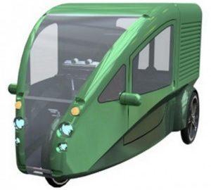 Empresa cria triciclo elétrico feito de materiais recicláveis