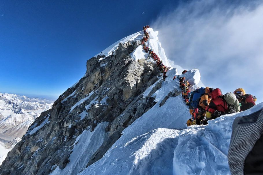 Foto do Everest divulgada pelo Project Possible no dia 22 de maio