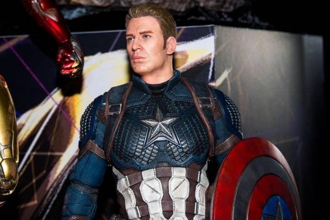 capitão américa em tamanho real