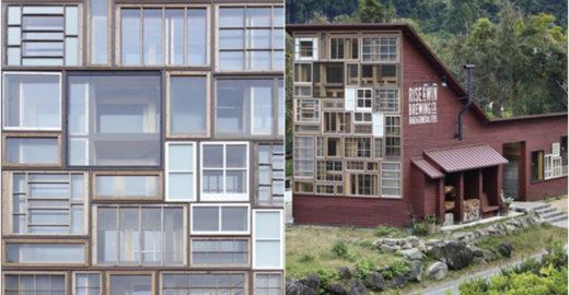 Feita de material reciclável, casa utiliza métodos antigos para reduzir uso de energia