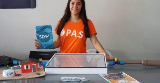 Estudante da BA leva prêmio nos EUA com purificador de água solar
