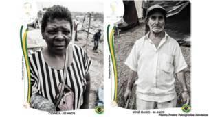 Fotógrafos recriam figurinhas da Copa com imagens de sem-teto