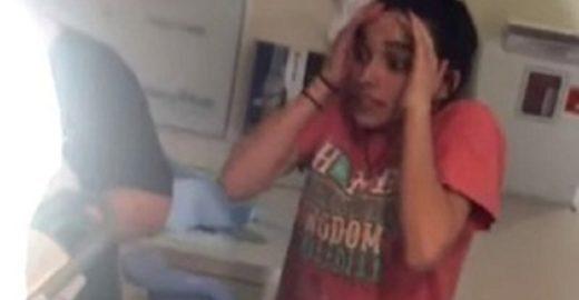 Garota fica enlouquecida ao assistir parto da irmã