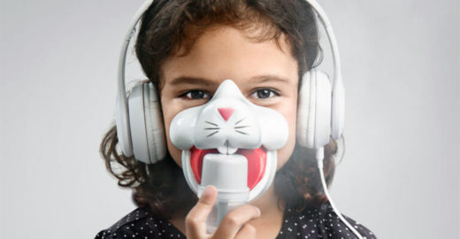 Inalação fica mais criativa com máscaras que contam histórias