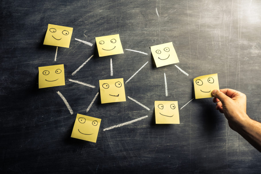 organograma com carinhas sorrindo
