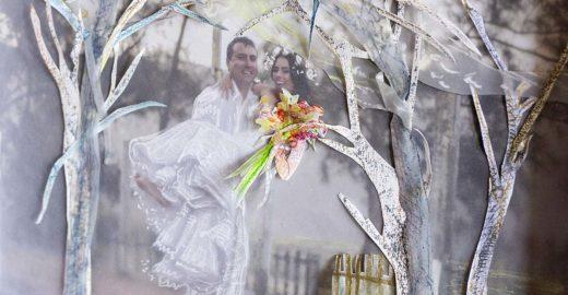Casamento de ilustração com fotografia revela inovação