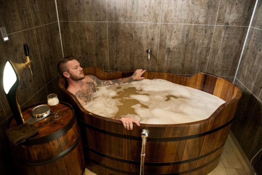 Spa de cerveja no norte da da Islândia