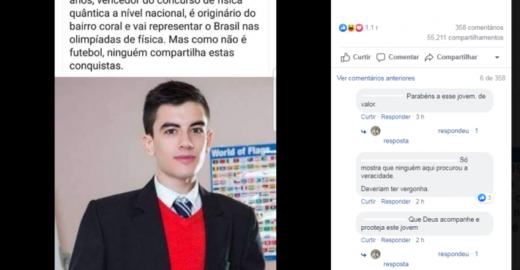 Fake News usando foto de ator pornô volta a circular no Brasil