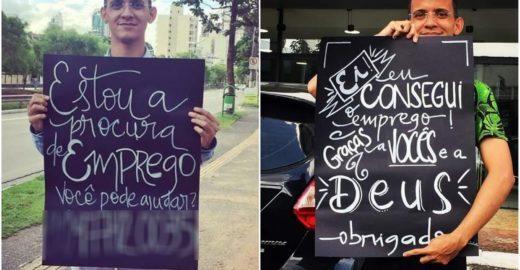 Jovem consegue emprego após desconhecida personalizar seu cartaz
