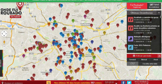 Site interativo mapeia violência nas cidades brasileiras