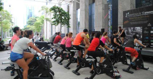 Hotel promove maratona spinning por causa social