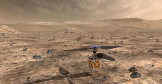 Nasa planeja enviar helicóptero a Marte em 2020