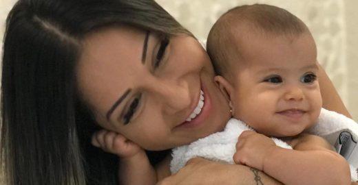 Filha de Mayra Cardi engasga e vai parar no hospital