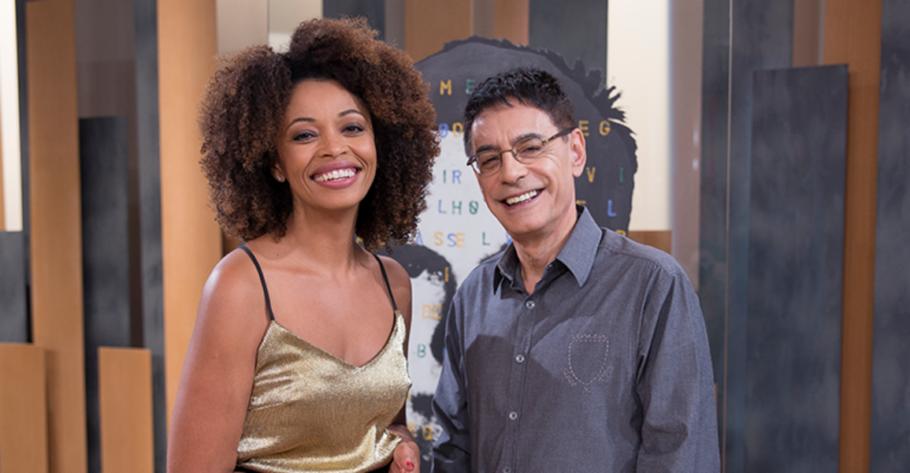 Metrópolis, com os apresentadores Adriana Couto e Cunha Jr.