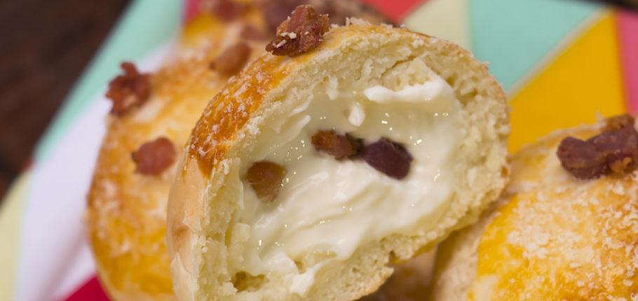Pão de Batata com Bacon: irresistível!