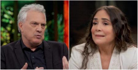 A alfinetada que Pedro Bial deu em Regina Duarte viralizou nas redes sociais