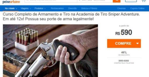 Site de compras coletivas oferece cursos de tiro em SP