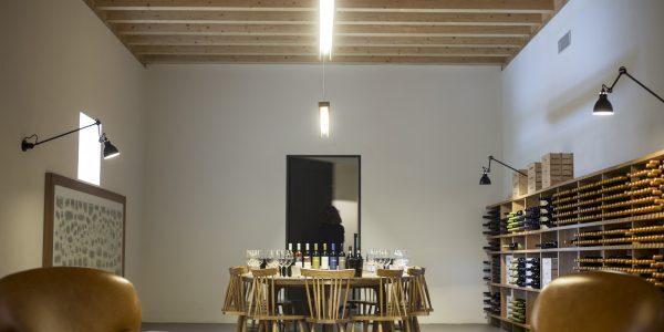 Sala de degustação de vinhos da Quinta dos Murças, em Portugal