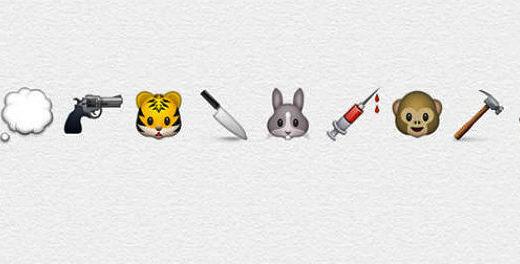 PETA usa emojis para expor a crueldade contra os animais
