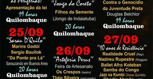 Quilombaque comemora sete anos de resistência cultural