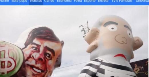 Rodrigo Maia vira boneco inflável ao lado de 'pixuleco' no Rio