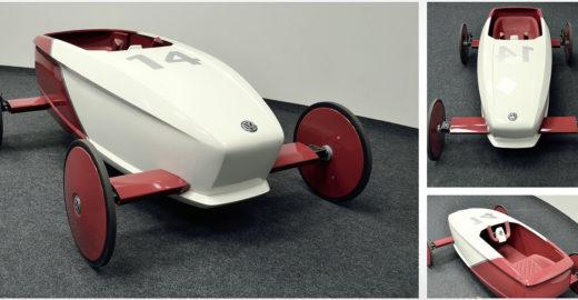 Estudante cria veículo inspirado em carrinho de rolimã
