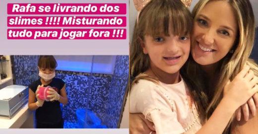 Ticiane Pinheiro joga fora 57 slimes da filha por conterem bórax