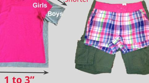 Ela criou uma alternativa para as roupas muito curtas de meninas