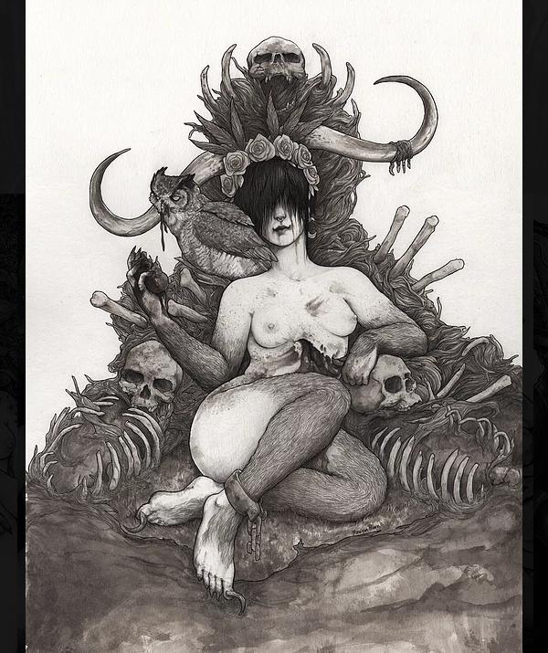 Arte gráfica de Moniquee Moon, que participa da POC CON