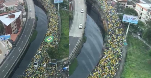Fotos de 2018 são atribuídas à manifestação pró-Bolsonaro