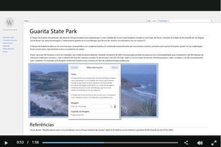 Reprodução do vídeo promocional explicando como a agência de publicidade 'hackeou' a Wikipédia