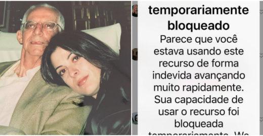 Ana Paula Padrão é bloqueada no Instagram após morte do pai