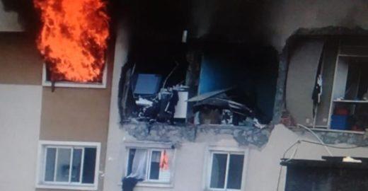 Explosão arremessa criança de prédio em Curitiba