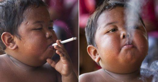 Geraldo Luís leva ao palco do programa bebê fumante da Indonésia