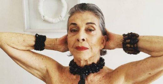Com quase 80 anos, Betty Faria impressiona pela flexibilidade