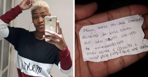 Mulher escreve bilhete e salva passageira que sofria assédio em ônibus